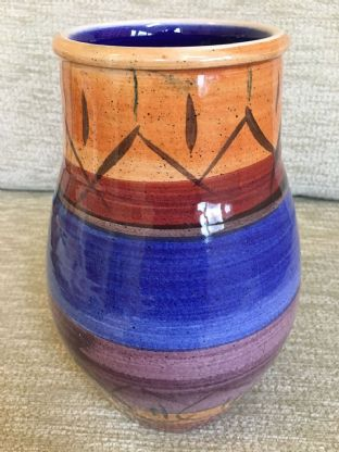 Large Hand Painted Poole Pottery Studio Vase